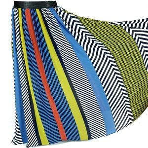 TOV Holy M Multicolored Maxi Skirt Partially Lined